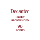 Decanter Highly Recomended 90 points
